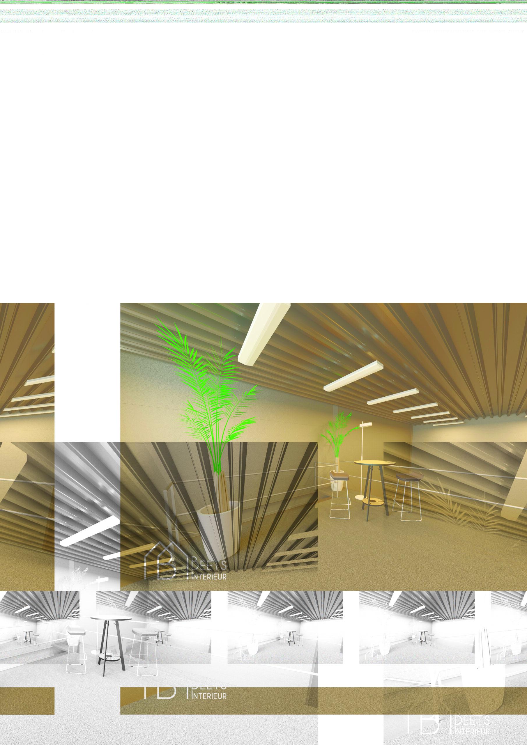 3D impressie kantoor bedrijfsruimte Heiloo